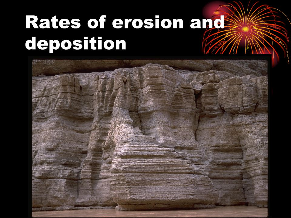 Rates of erosion and deposition