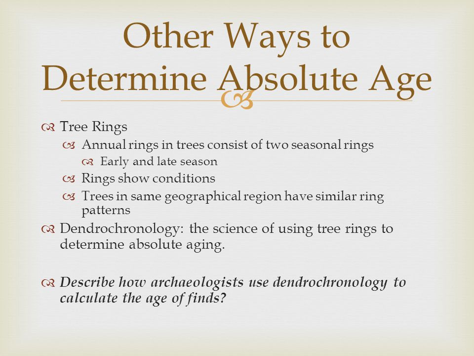 Other Ways to Determine Absolute Age