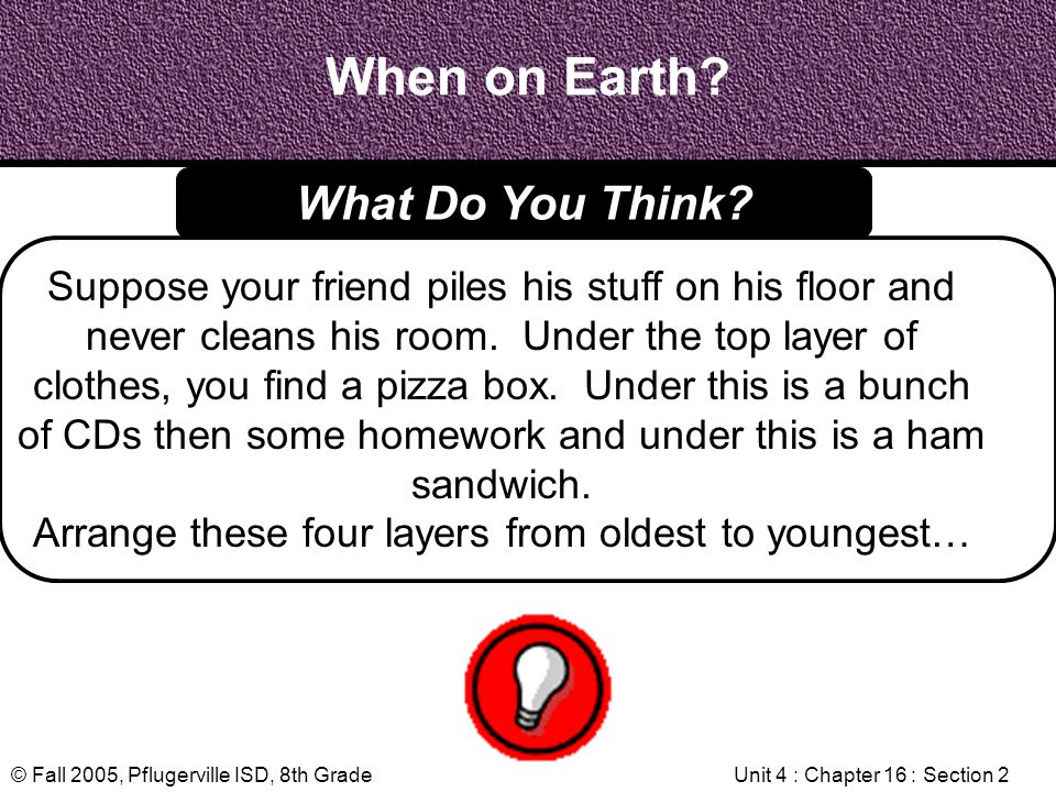 When on Earth What Do You Think