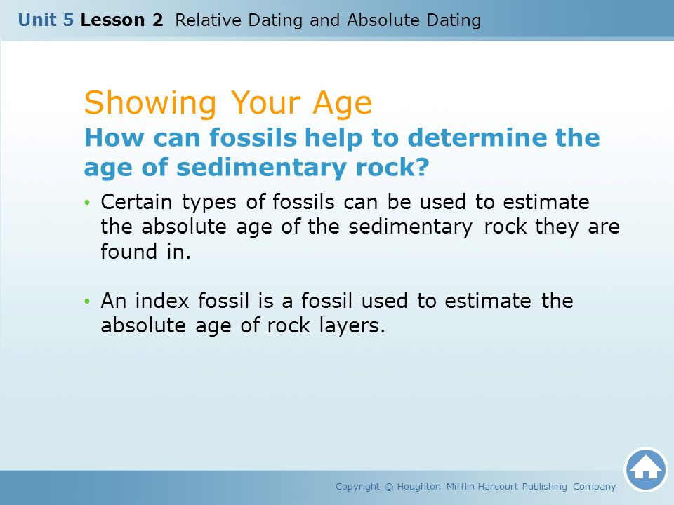 Unit 5 Lesson 2 Relative Dating and Absolute Dating