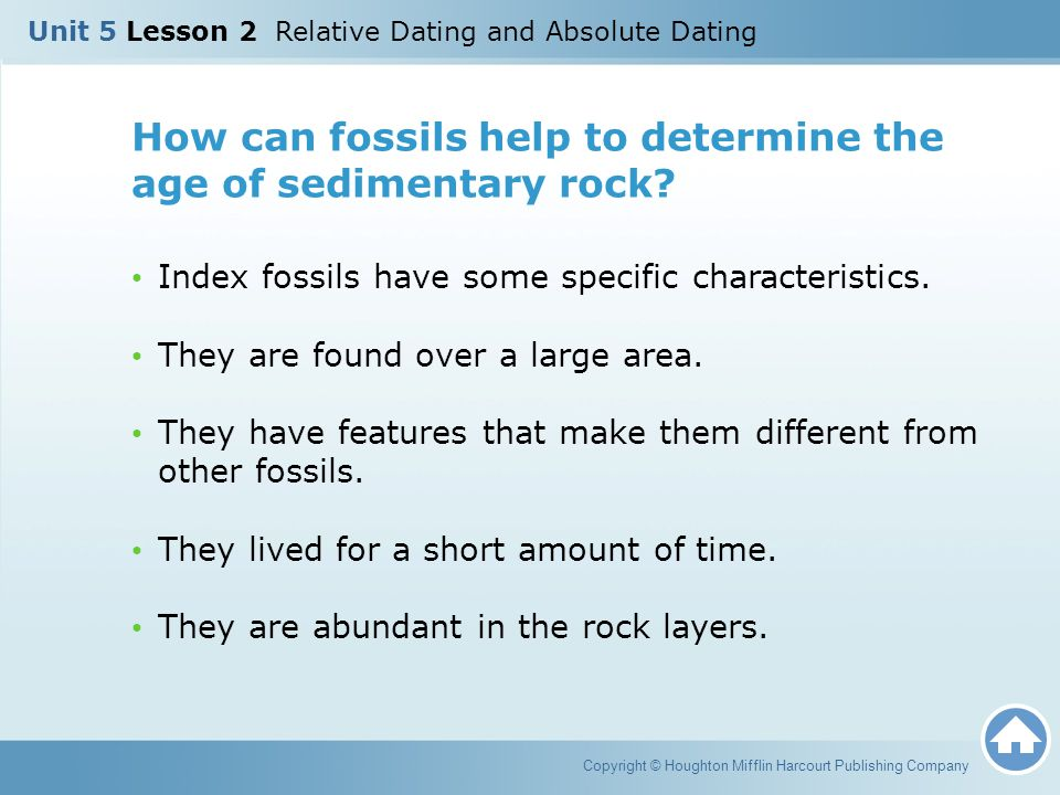 How can fossils help to determine the age of sedimentary rock