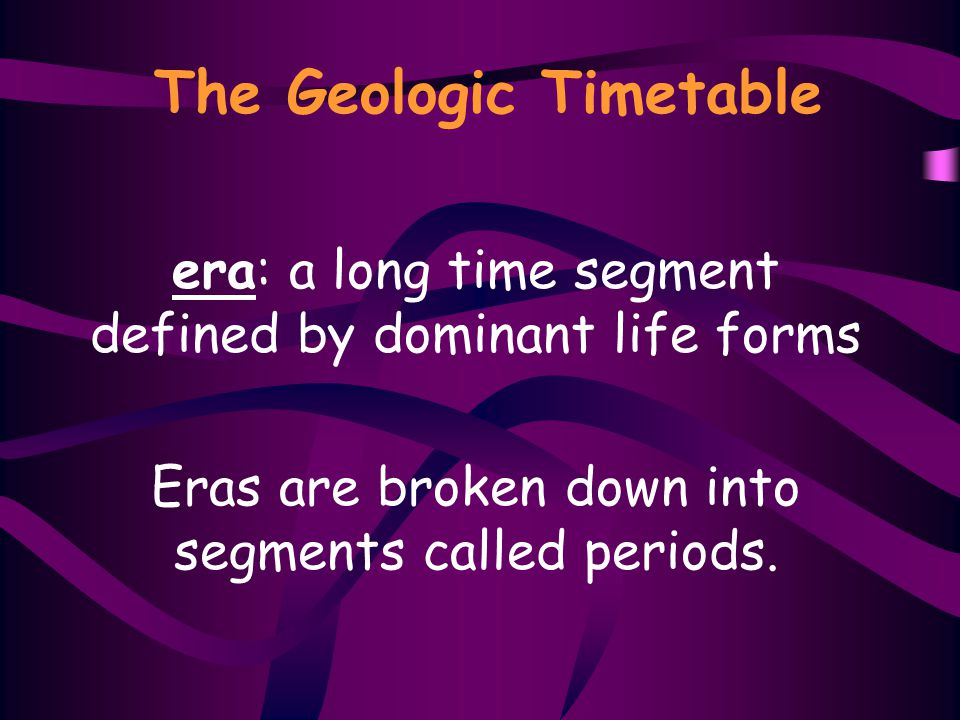 The Geologic Timetable