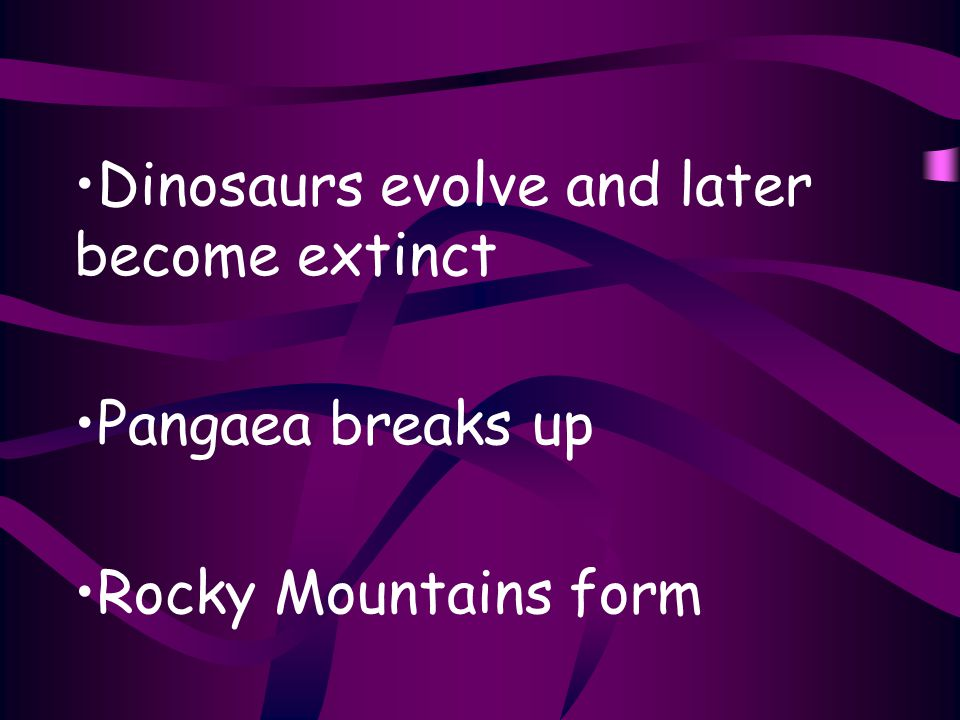 Dinosaurs evolve and later become extinct