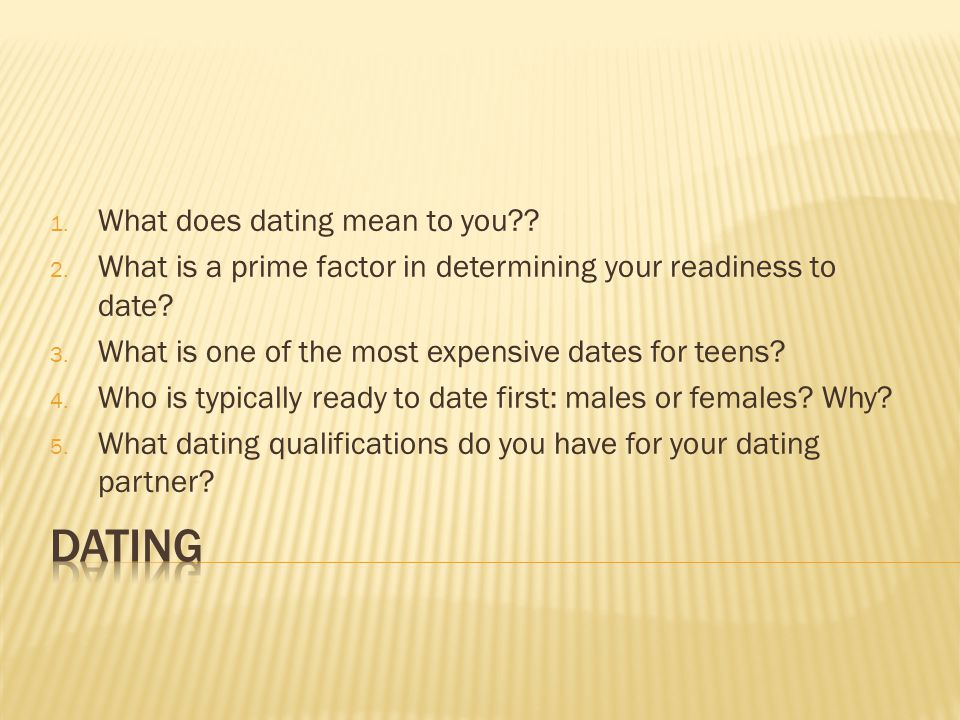 What to do when dating