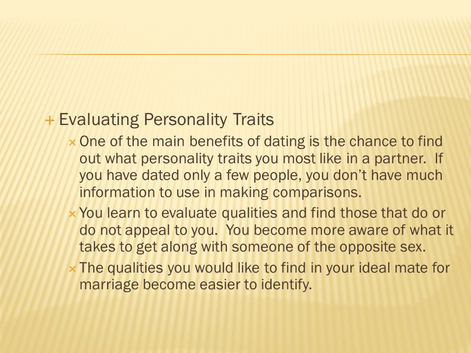 Evaluating Personality Traits