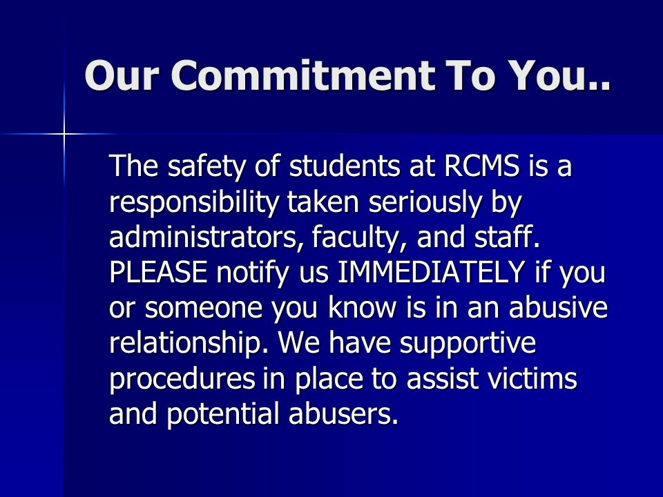 Our Commitment To You..