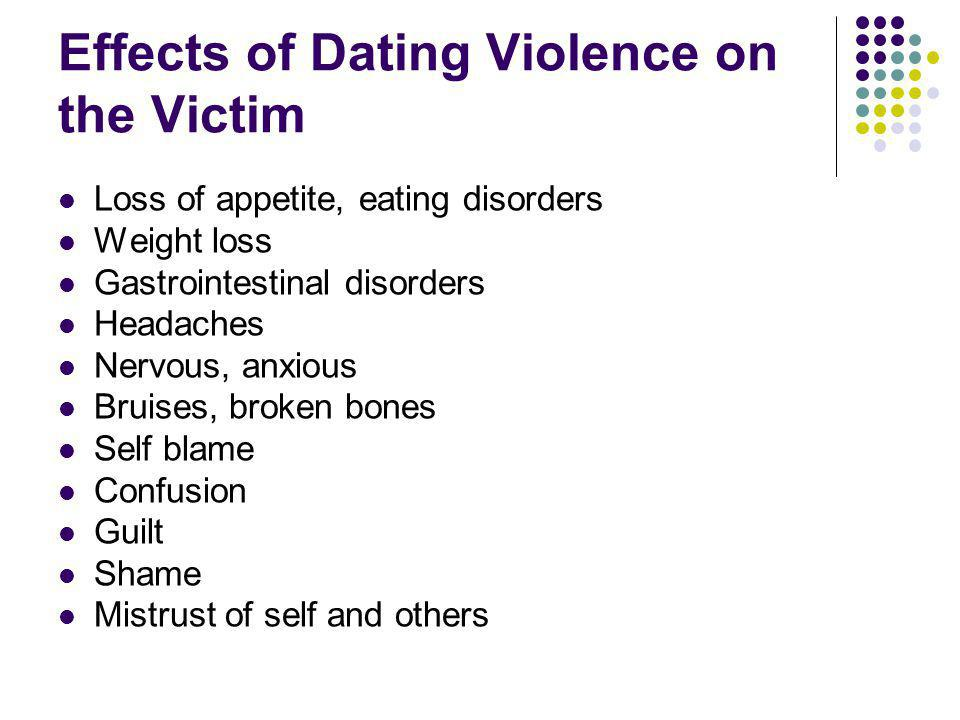 Effects of Dating Violence on the Victim