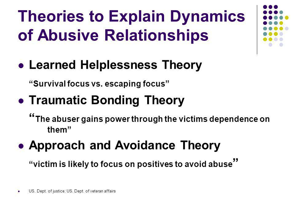 Theories to Explain Dynamics of Abusive Relationships