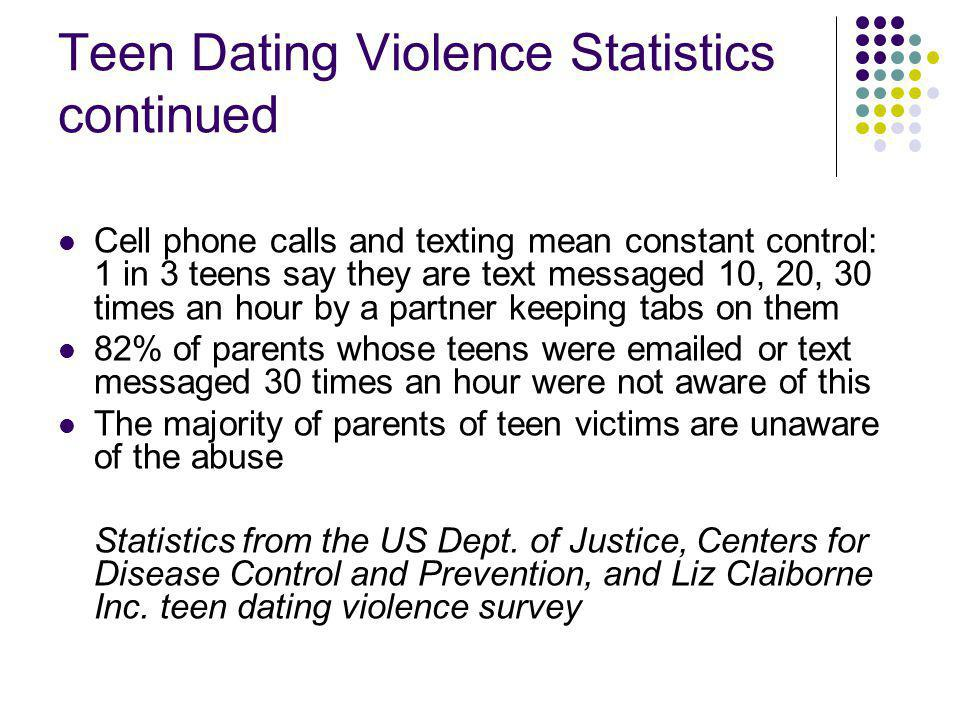 Teen Dating Violence Statistics continued
