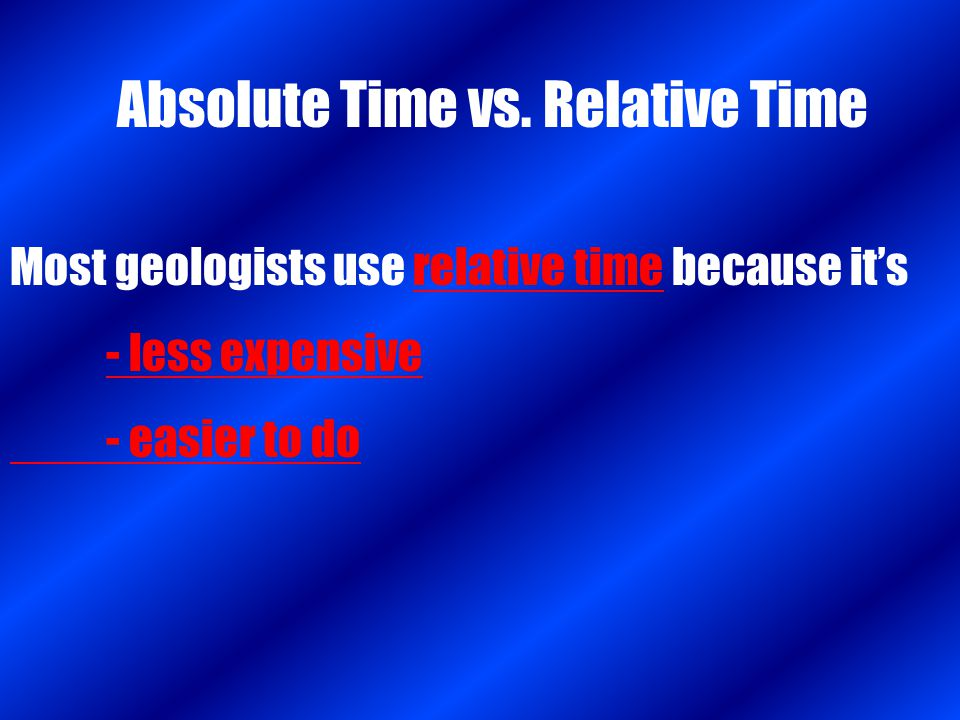 Absolute Time vs. Relative Time