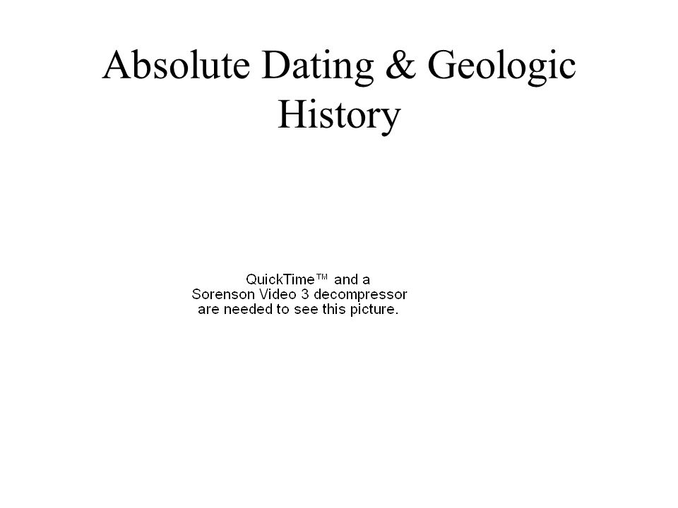 Absolute Dating & Geologic History