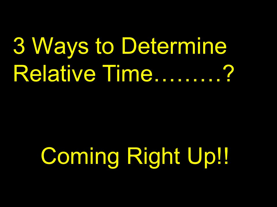 3 Ways to Determine Relative Time……… Coming Right Up!!