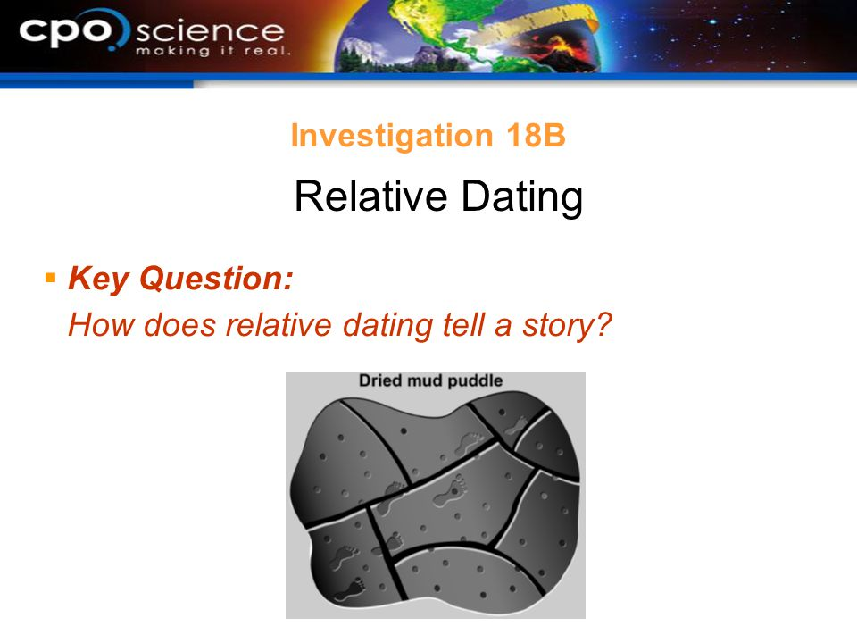 Relative Dating Investigation 18B Key Question: