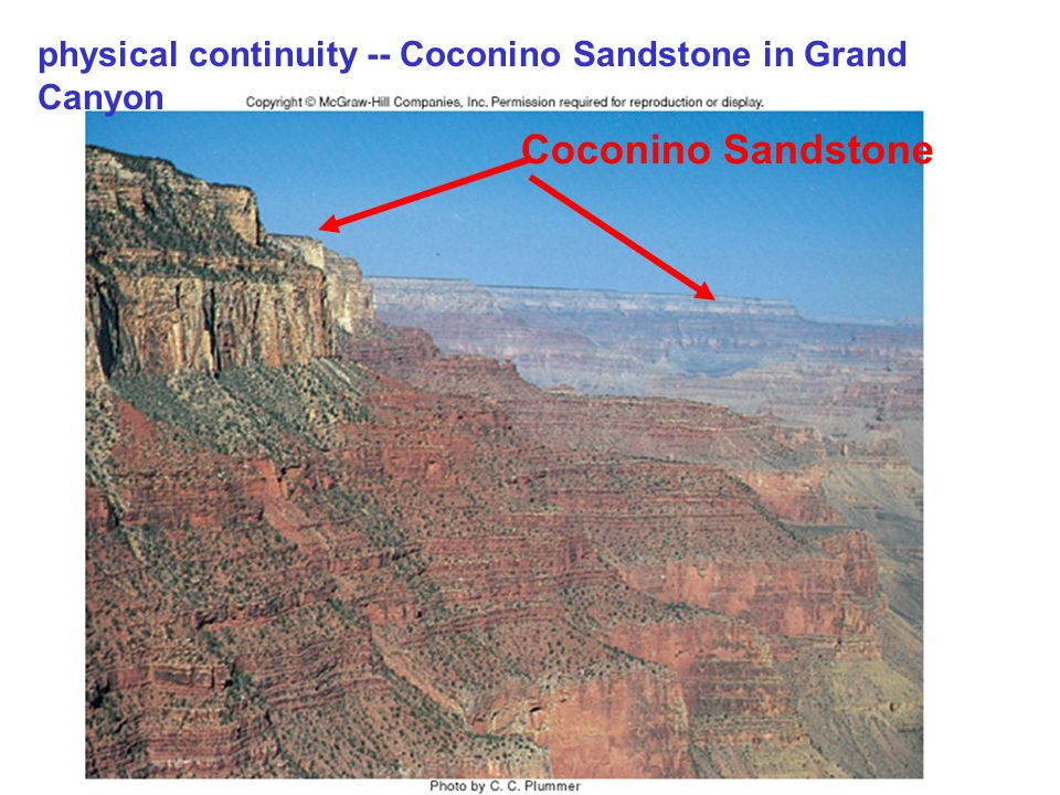 physical continuity -- Coconino Sandstone in Grand Canyon