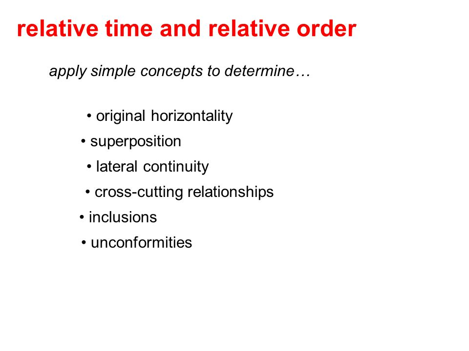 relative time and relative order
