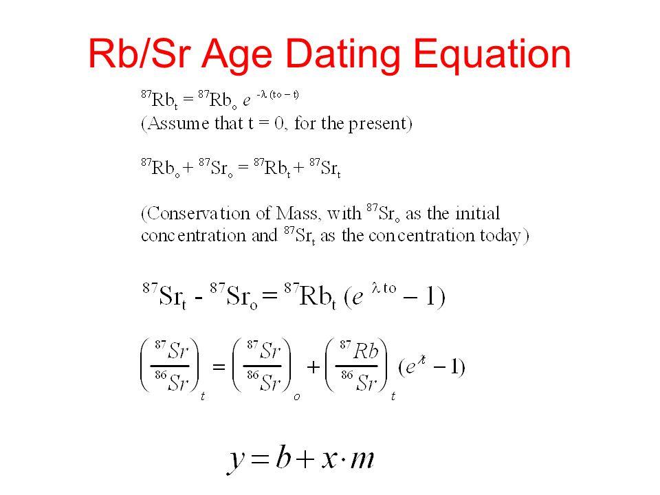Rb/Sr Age Dating Equation