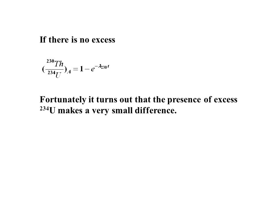 If there is no excess.