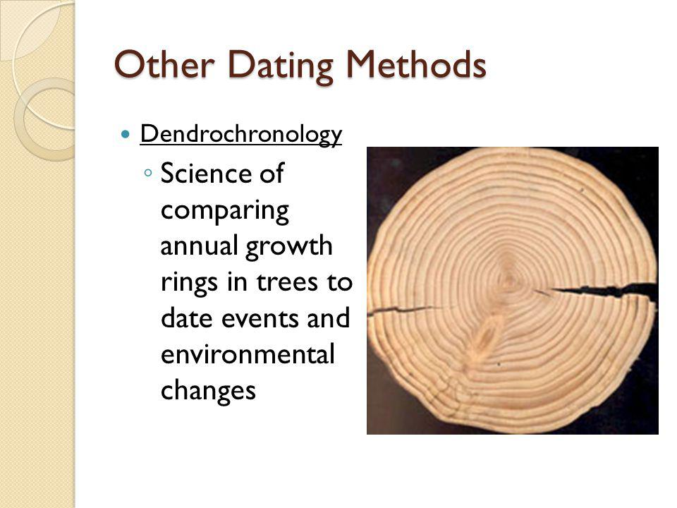 Other Dating Methods Dendrochronology.