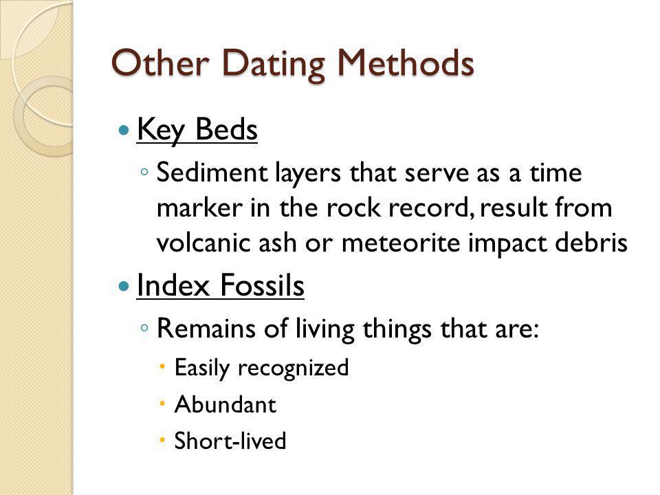 Other Dating Methods Key Beds Index Fossils