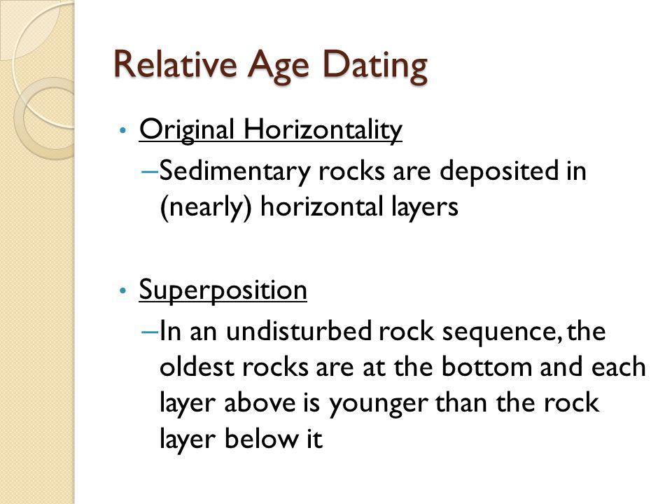 Relative Age Dating Original Horizontality