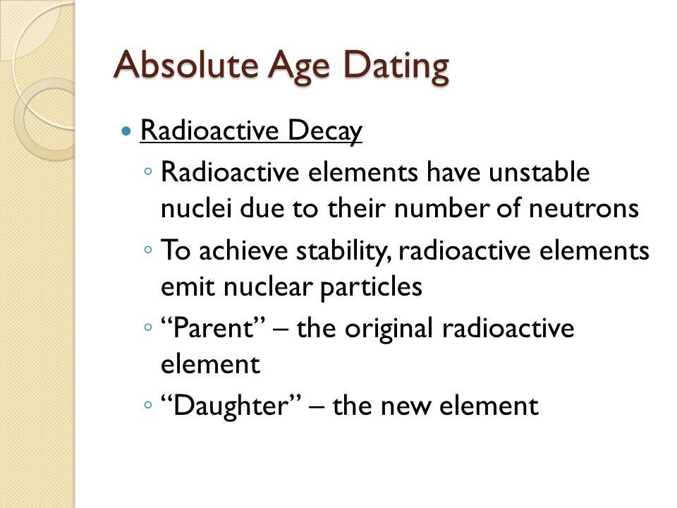 Absolute Age Dating Radioactive Decay