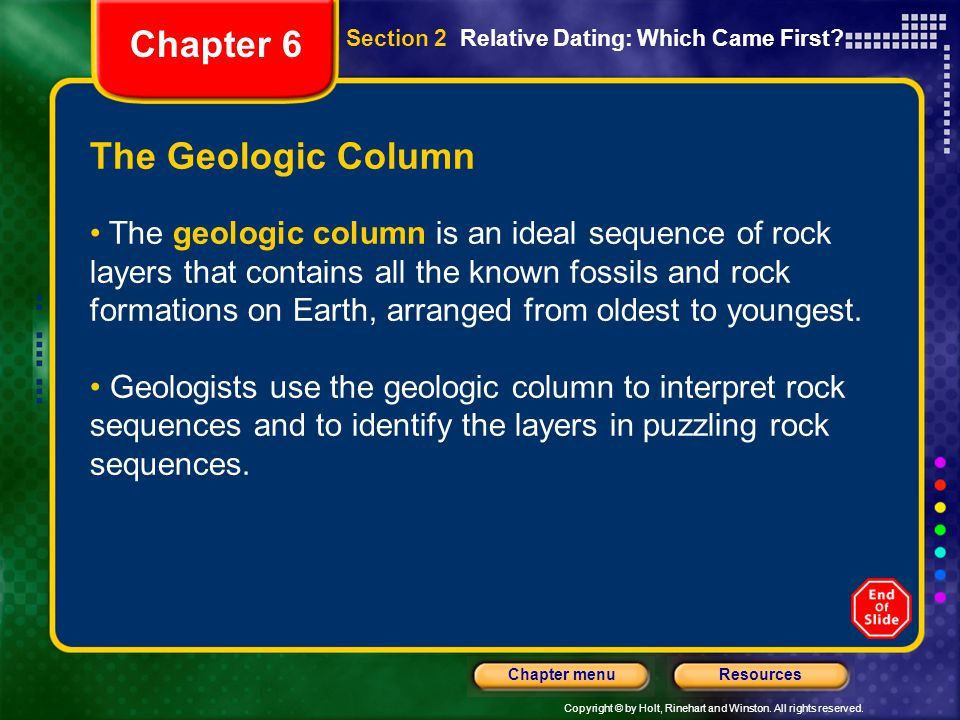 Chapter 6 The Geologic Column