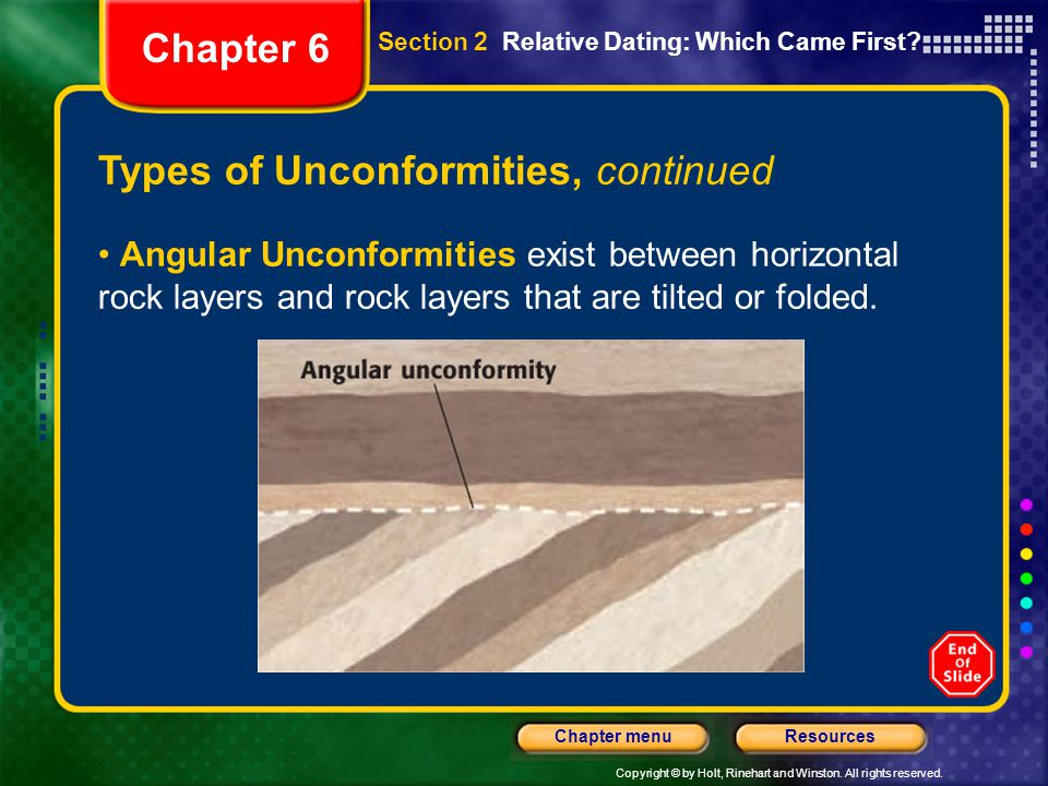 Types of Unconformities, continued