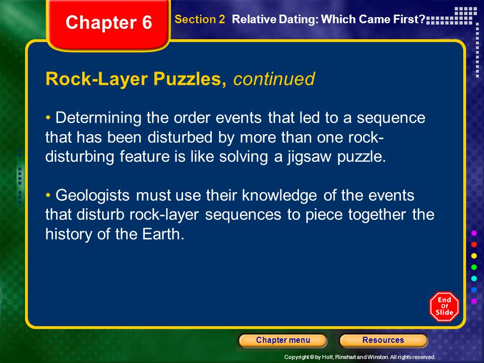 Rock-Layer Puzzles, continued