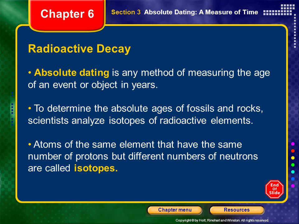 Chapter 6 Radioactive Decay