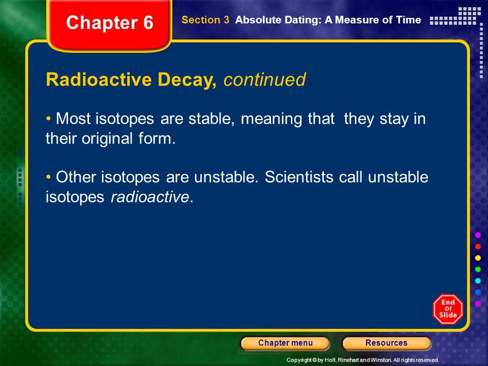 Radioactive Decay, continued