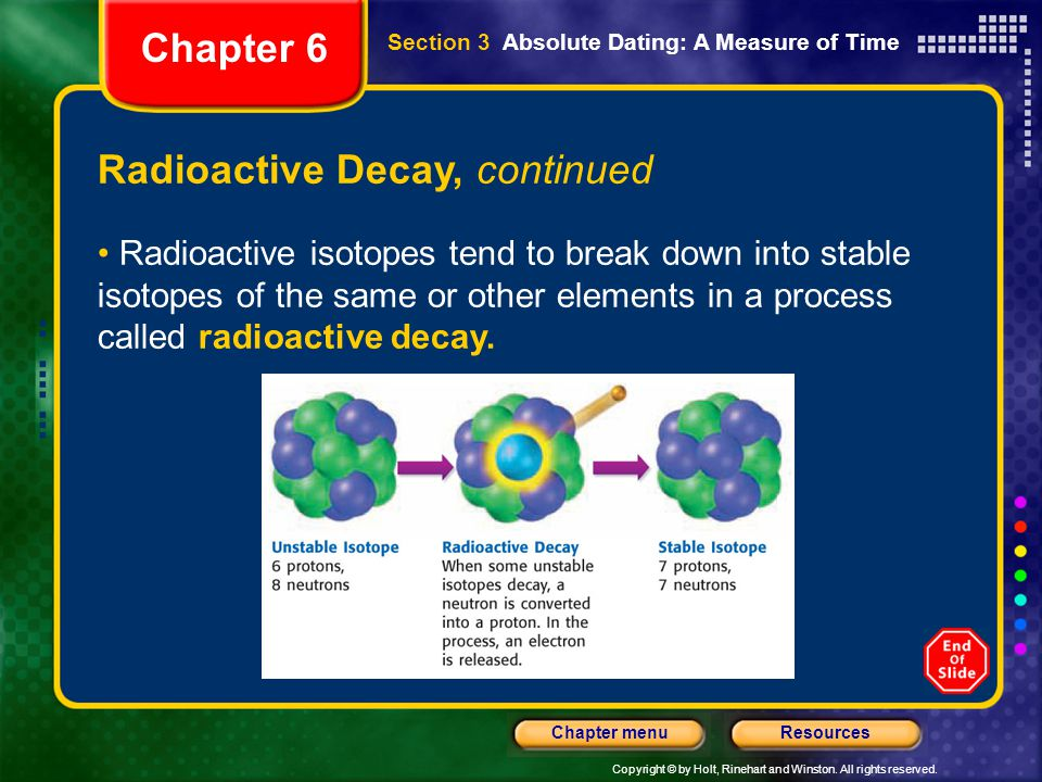 Radioactive Decay, continued
