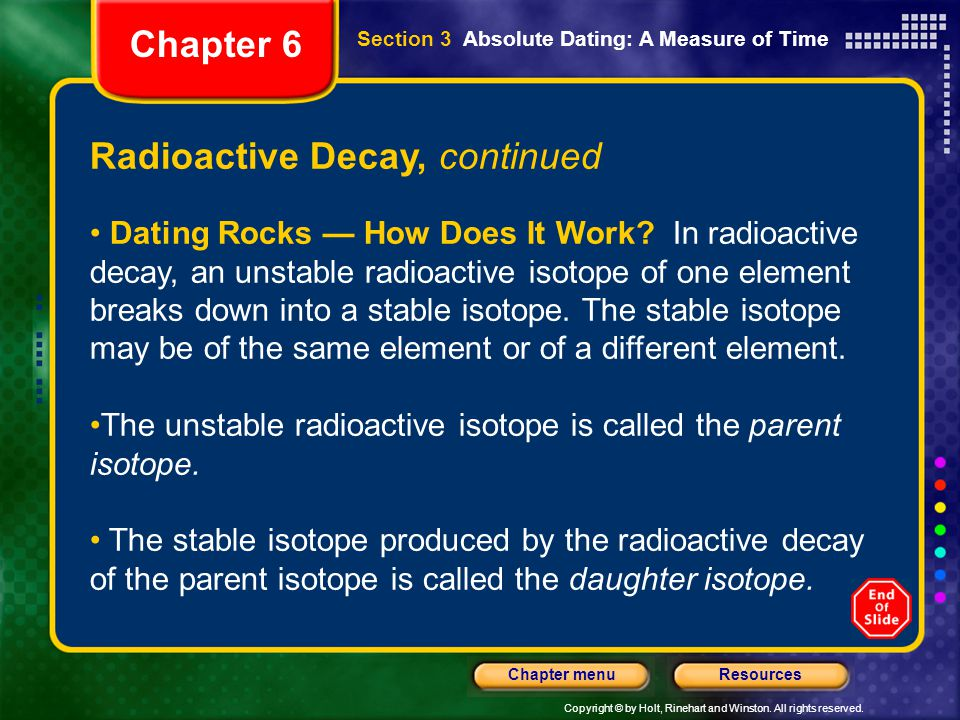How does radioactive decay dating work