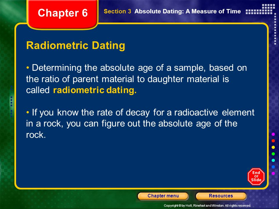 Chapter 6 Radiometric Dating