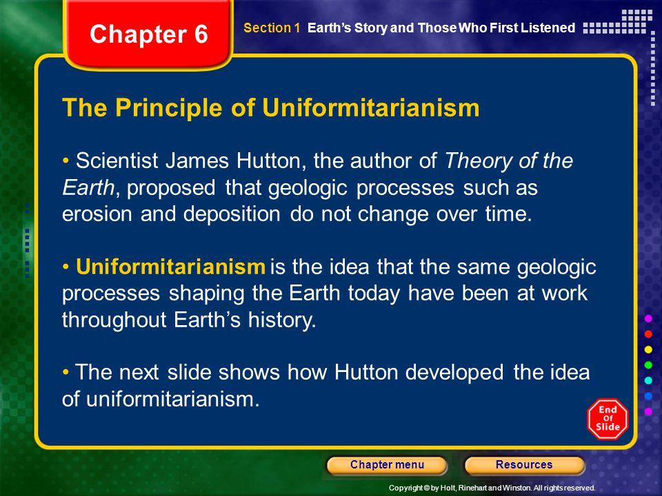 The Principle of Uniformitarianism