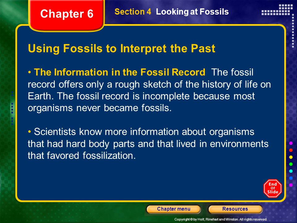 Using Fossils to Interpret the Past