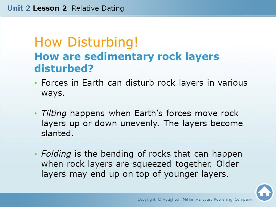 How Disturbing! How are sedimentary rock layers disturbed