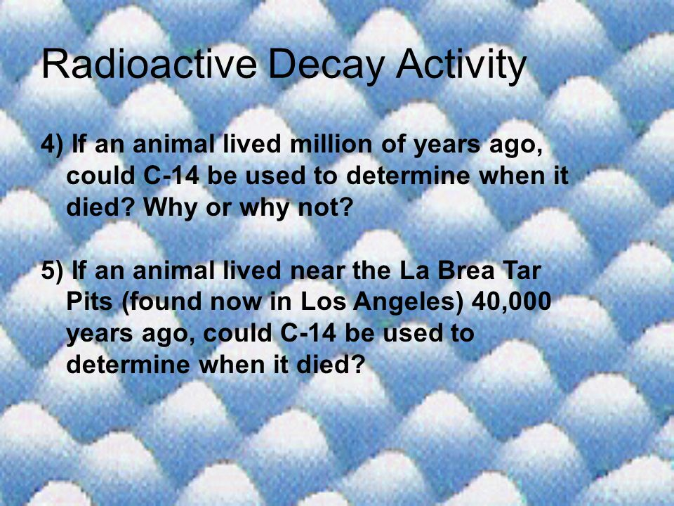 Radioactive Decay Activity