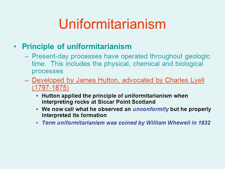Uniformitarianism Principle of uniformitarianism