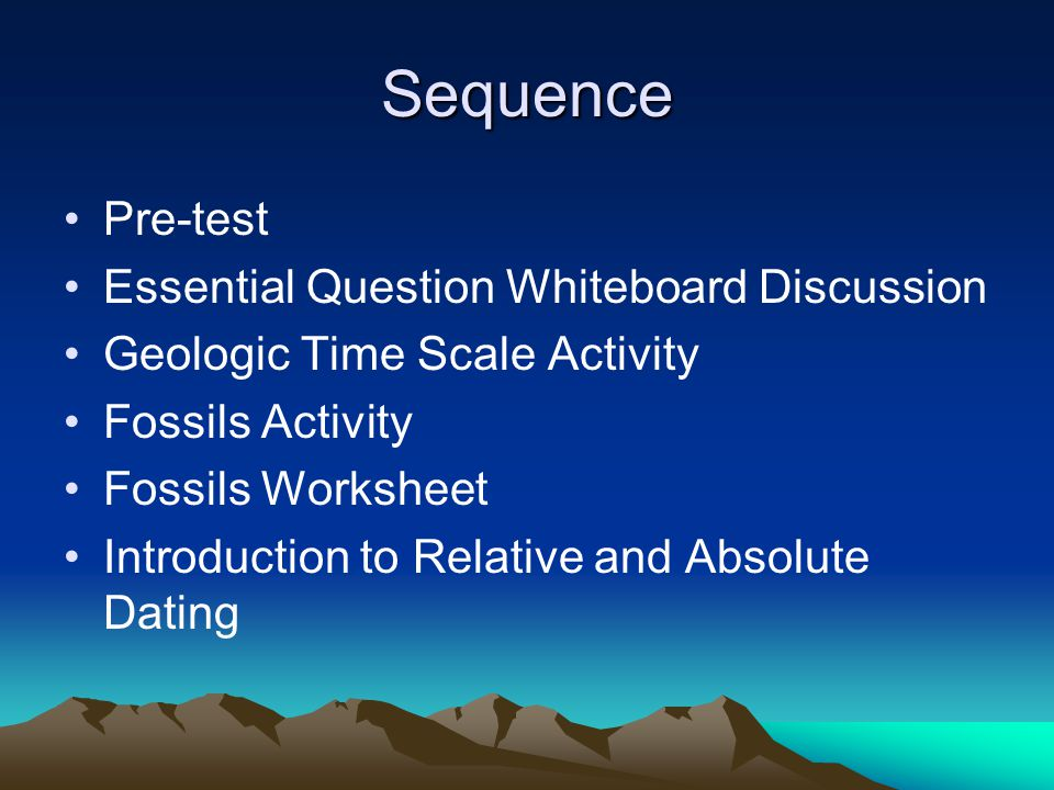 Sequence Pre-test Essential Question Whiteboard Discussion