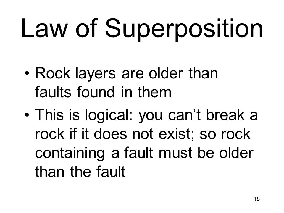 Law of Superposition Rock layers are older than faults found in them