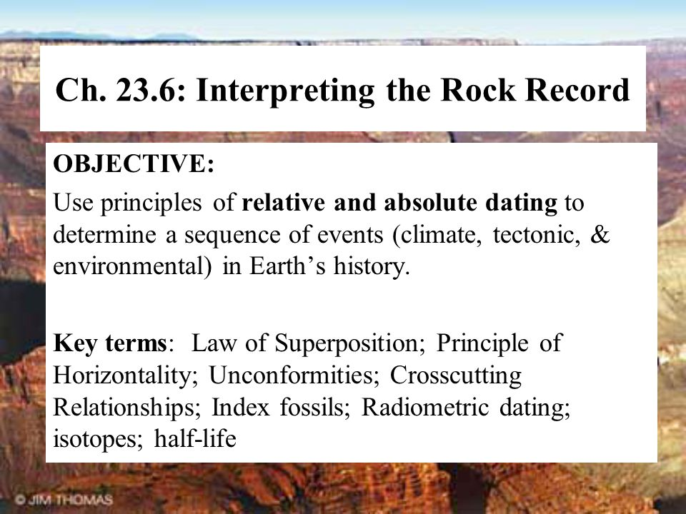 Ch. 23.6: Interpreting the Rock Record