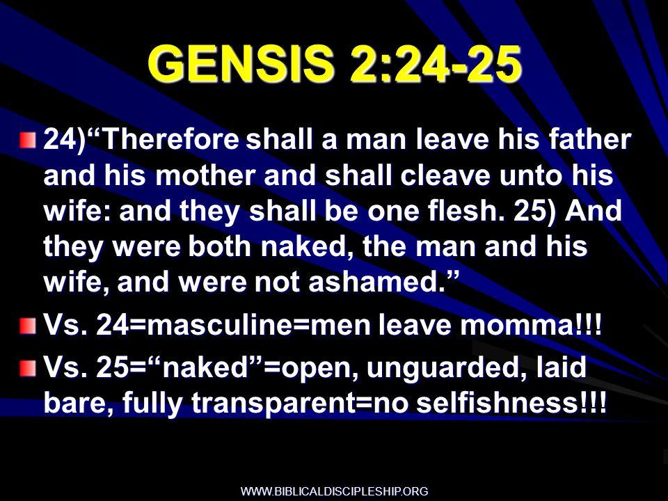 GENSIS 2:24-25