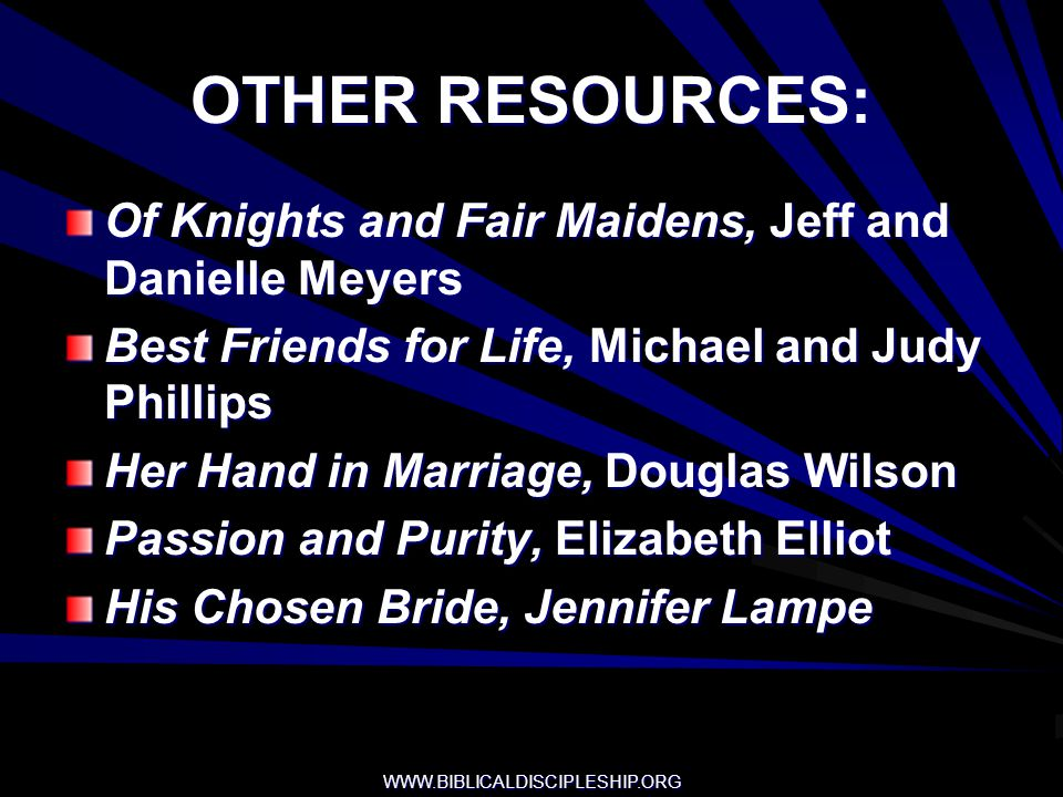 OTHER RESOURCES: Of Knights and Fair Maidens, Jeff and Danielle Meyers