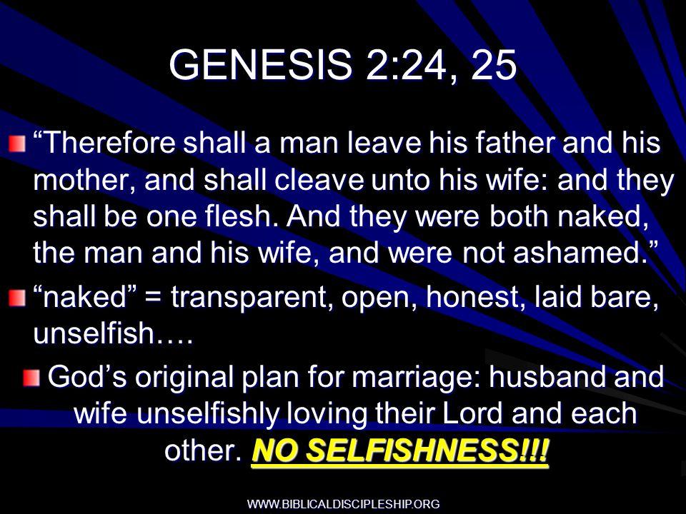GENESIS 2:24, 25