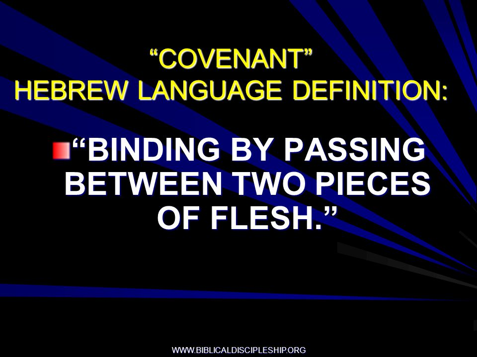 COVENANT HEBREW LANGUAGE DEFINITION: