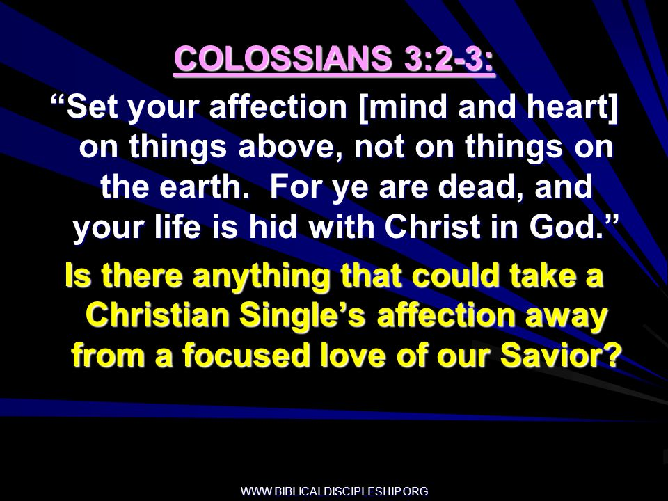 COLOSSIANS 3:2-3: