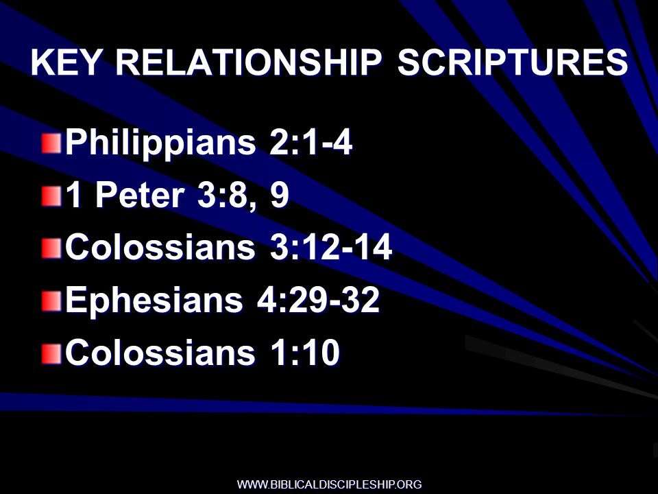 KEY RELATIONSHIP SCRIPTURES