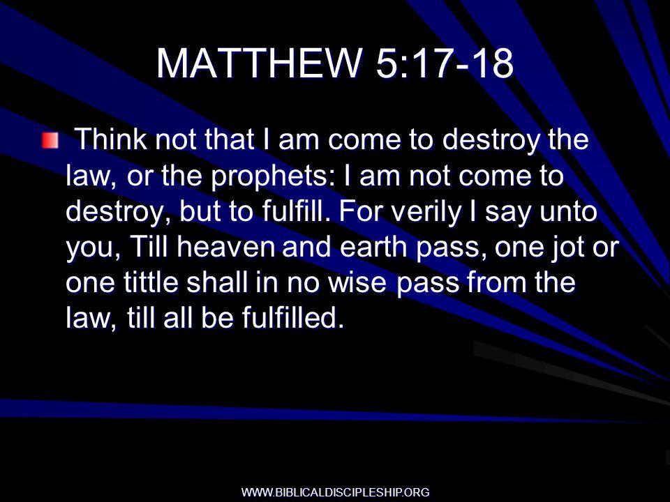 MATTHEW 5:17-18