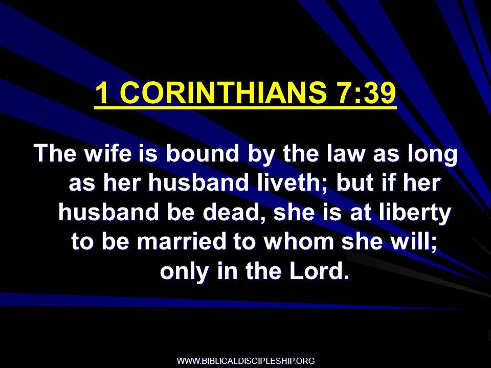 1 CORINTHIANS 7:39