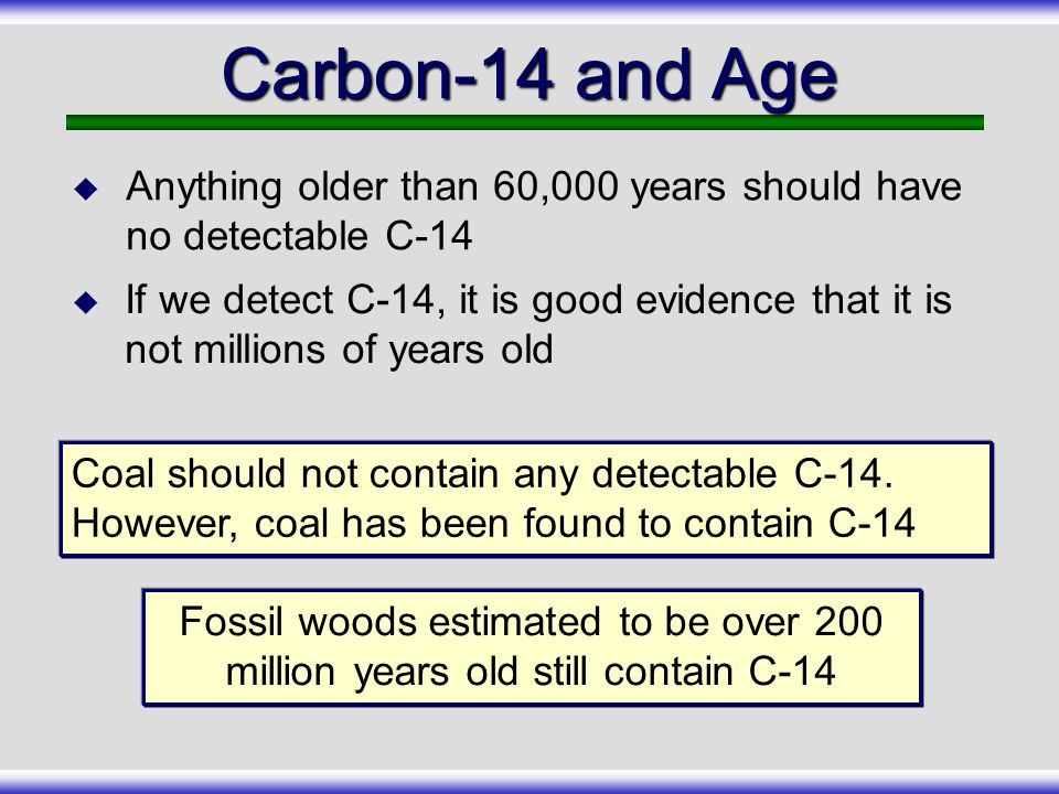 Radiocarbon dating debunked